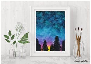 Sunset Galaxy Print