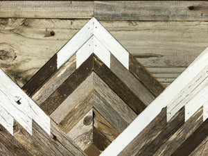 Reclaimed Wood Mountain Tops Wall Art