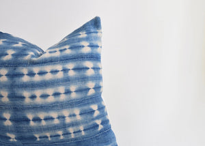 Indigo with White African Mud Cloth Pillow Cover