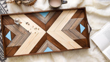 Load image into Gallery viewer, Coastal Wood Tray with Handles