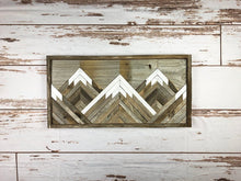 Load image into Gallery viewer, Reclaimed Wood Mountain Tops Wall Art