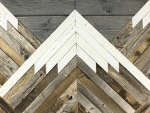 Load image into Gallery viewer, Reclaimed Wood Mountain Tops w/ Grey Sky Wall Art
