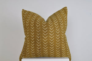 The Venice Solid African Mud Cloth Pillow Cover
