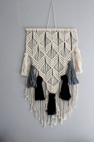 Hanley - Medium Macrame Wall Hanging with Tassels