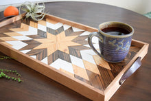 Load image into Gallery viewer, Hunter Star Wood Tray with Handles