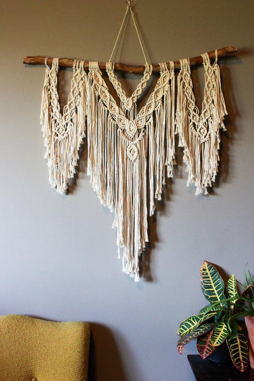 Thayer - Large Fringe Macrame Wall Hanging