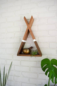 Teepee Floating Shelf with White Stripe