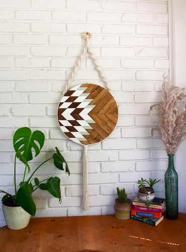 Elara Wood Wall Art Macrame