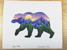 Load image into Gallery viewer, Sunset Bear Print