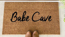 Load image into Gallery viewer, Babe Cave - Hand-Painted Welcome Mat