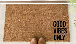 Good Vibes Only - Hand-Painted Welcome Mat