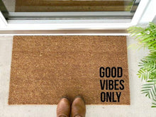 Load image into Gallery viewer, Good Vibes Only - Hand-Painted Welcome Mat