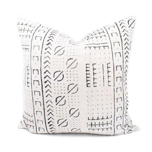 Sara - Beige Geometric Mud Cloth Pillow Cover