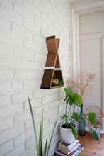 Load image into Gallery viewer, Teepee Floating Shelf with White Stripe