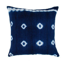 Load image into Gallery viewer, Brynn - Indigo African Mudcloth Pillow Cover