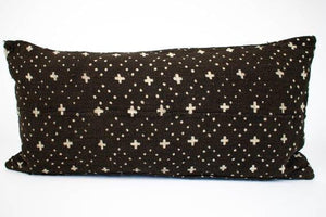 Emma African Mud Cloth Black with Beige Plus Signs