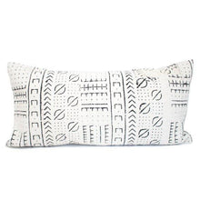 Load image into Gallery viewer, Sara - Lumbar Beige Geometric African Mudcloth Pillow Cover