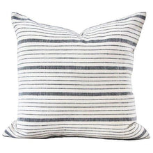 Load image into Gallery viewer, Black White Grey Striped Pillow Cover