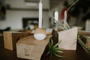Risus Candle & Air Plant Holder Set of 2