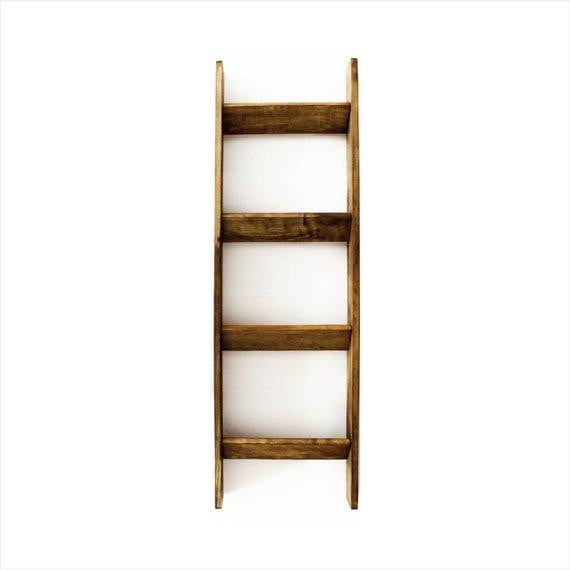 4 ft. Handmade Wooden Blanket Ladder
