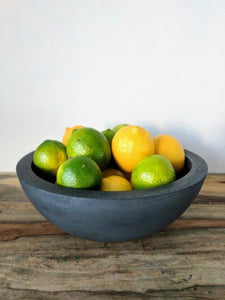 "Concrete 9"" Fruit Bowl"