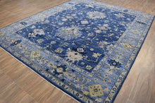 Load image into Gallery viewer, Hues of Blue Hand-Knotted 8'x10' Area Rug