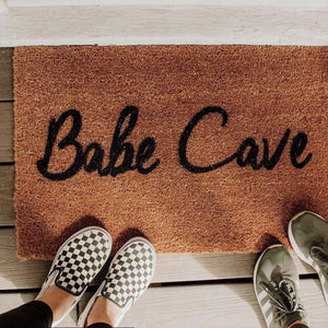 Babe Cave - Hand-Painted Welcome Mat