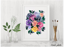 Load image into Gallery viewer, Rainbow Florals Print