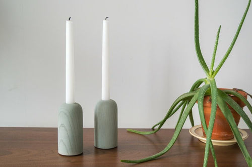 Hand-Casted Concrete Candle Holders