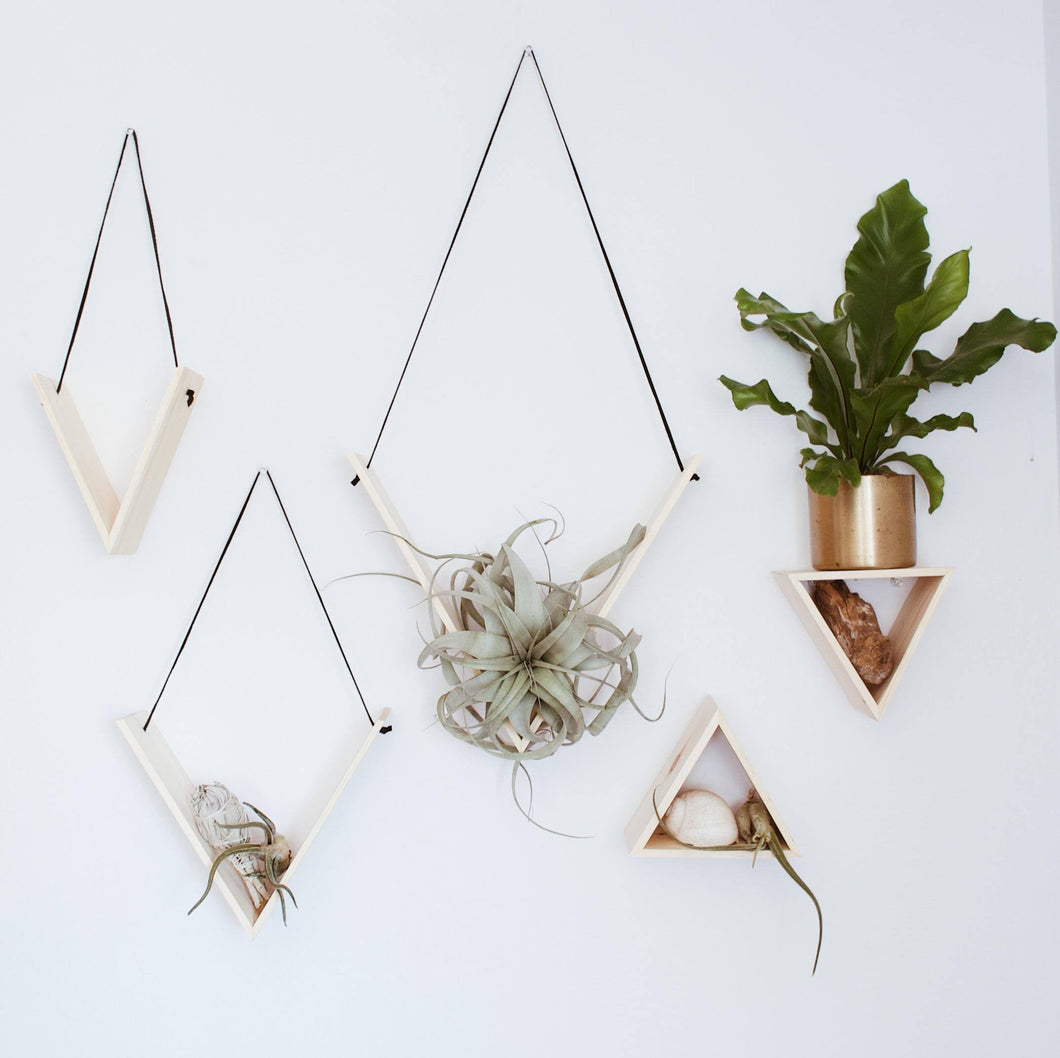 Set of 5 Handmade Triangle Shelves