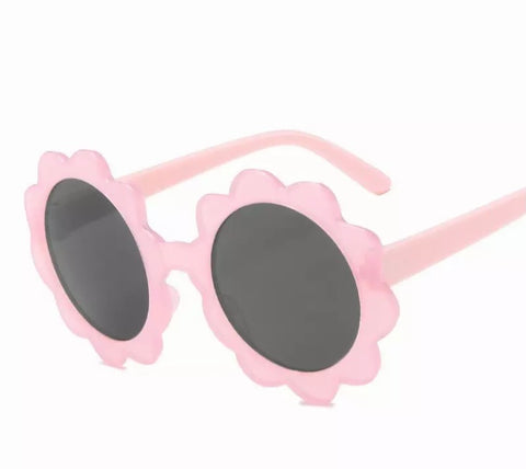 New Pink Candy Flower Sunglasses