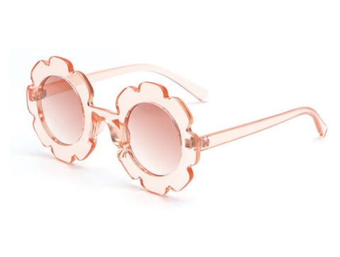 New Pink Clear Flower Sunglasses