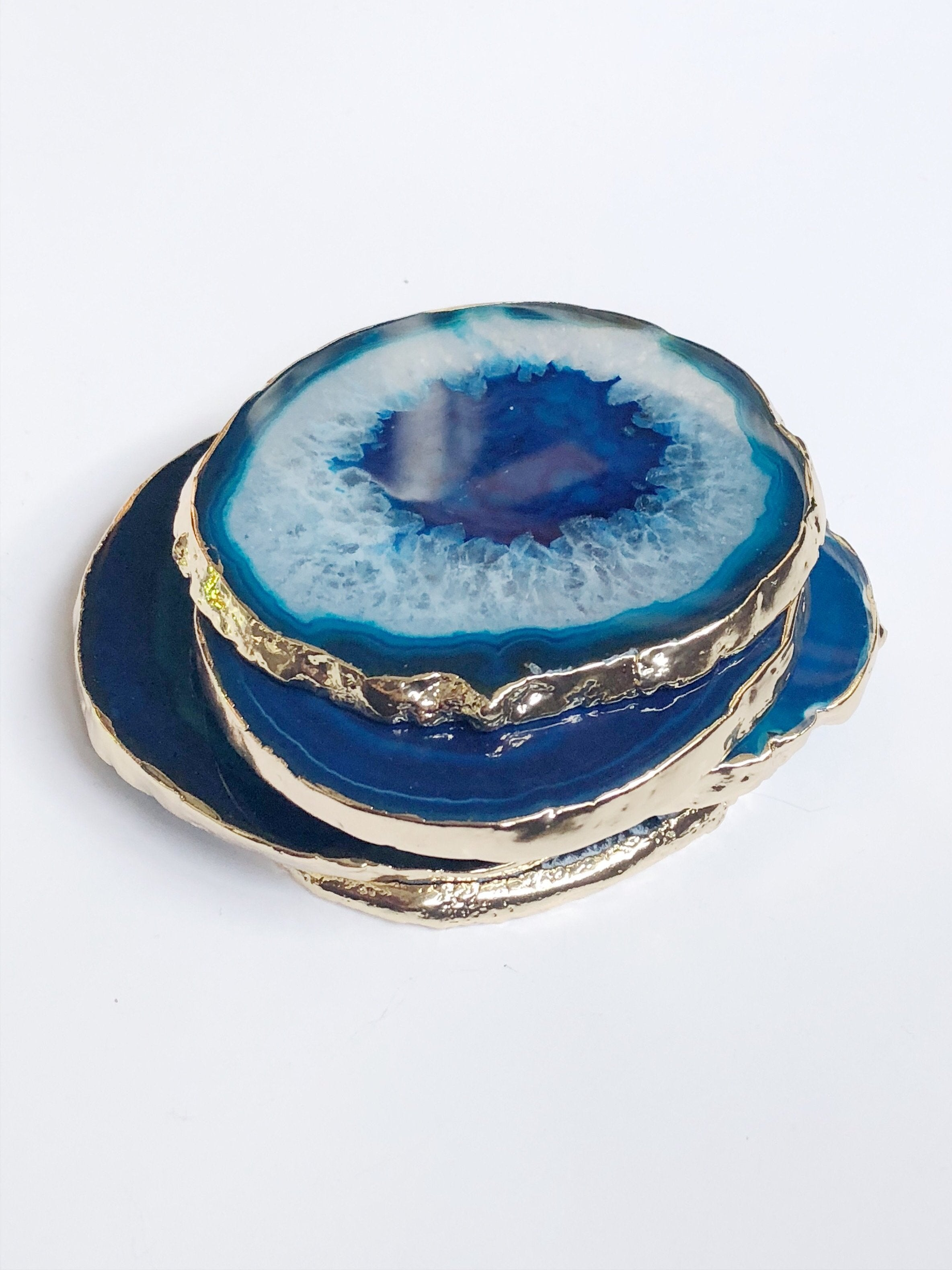 Blue Agate Coasters Only About You