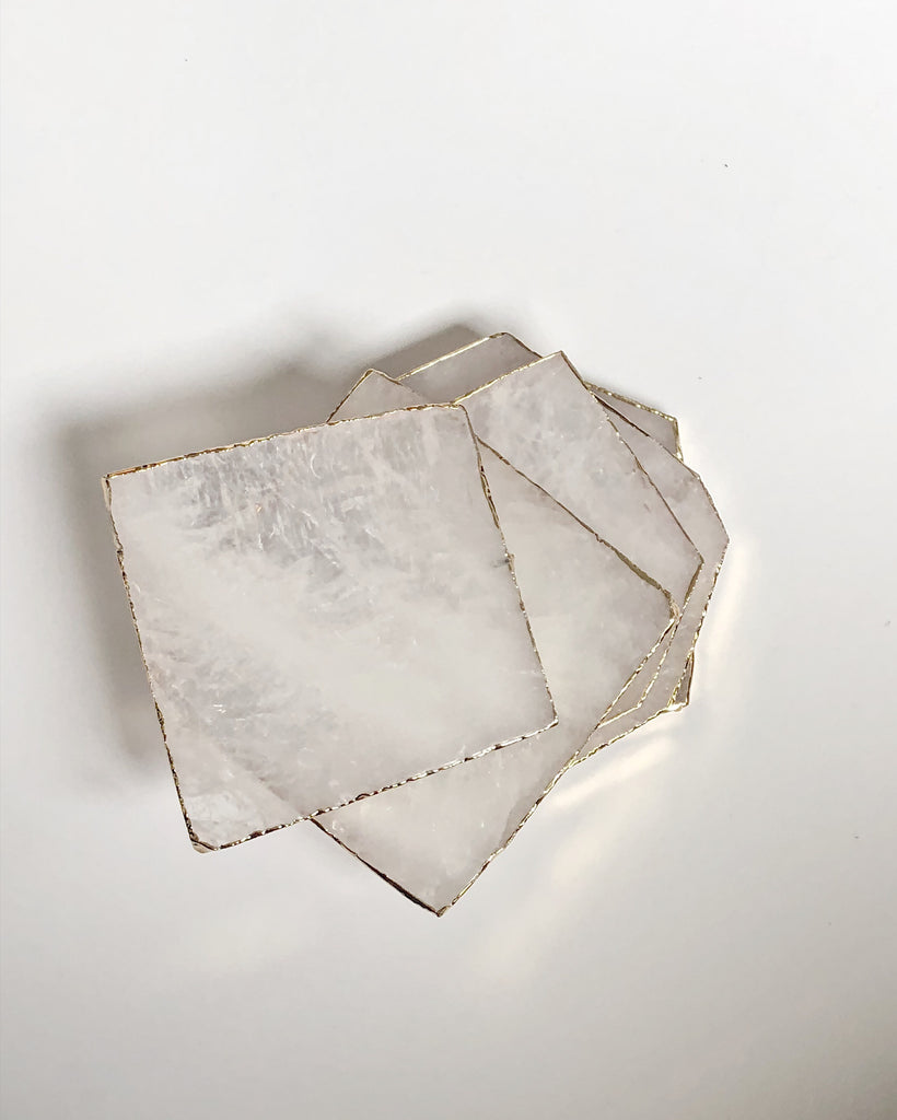 Clear Quartz Coasters