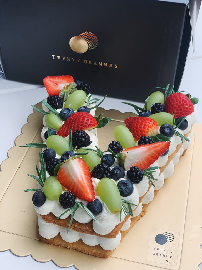 Alphabet Tart (Fruits)