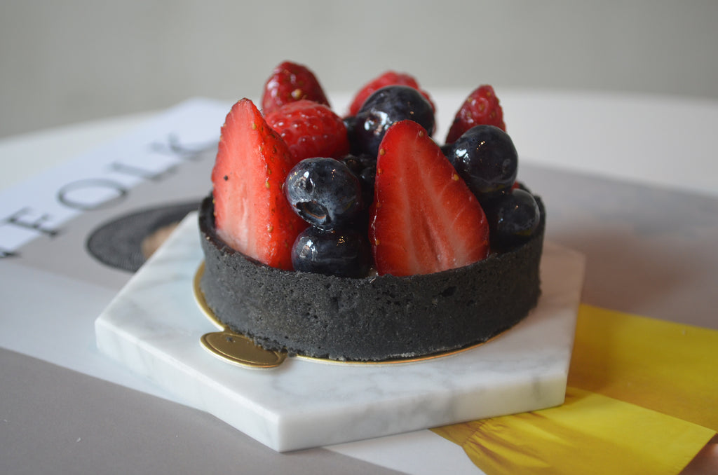 Charcoal Fruit Tartlets