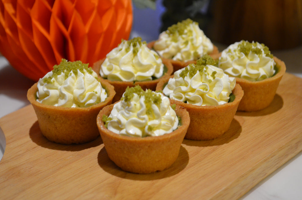 Mini Matcha White Chocolate Tartlets