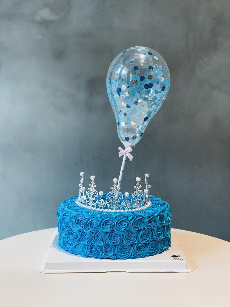 Blue Princess Tiara Cake
