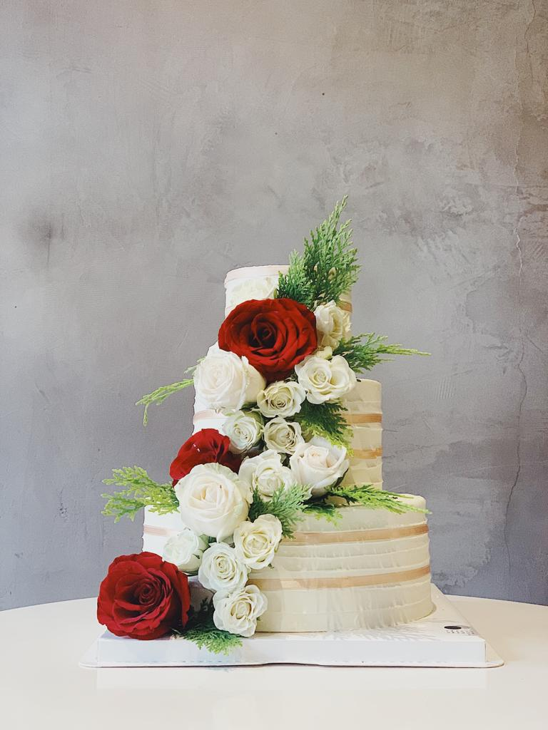 Sophie's Rustic Wedding Cake