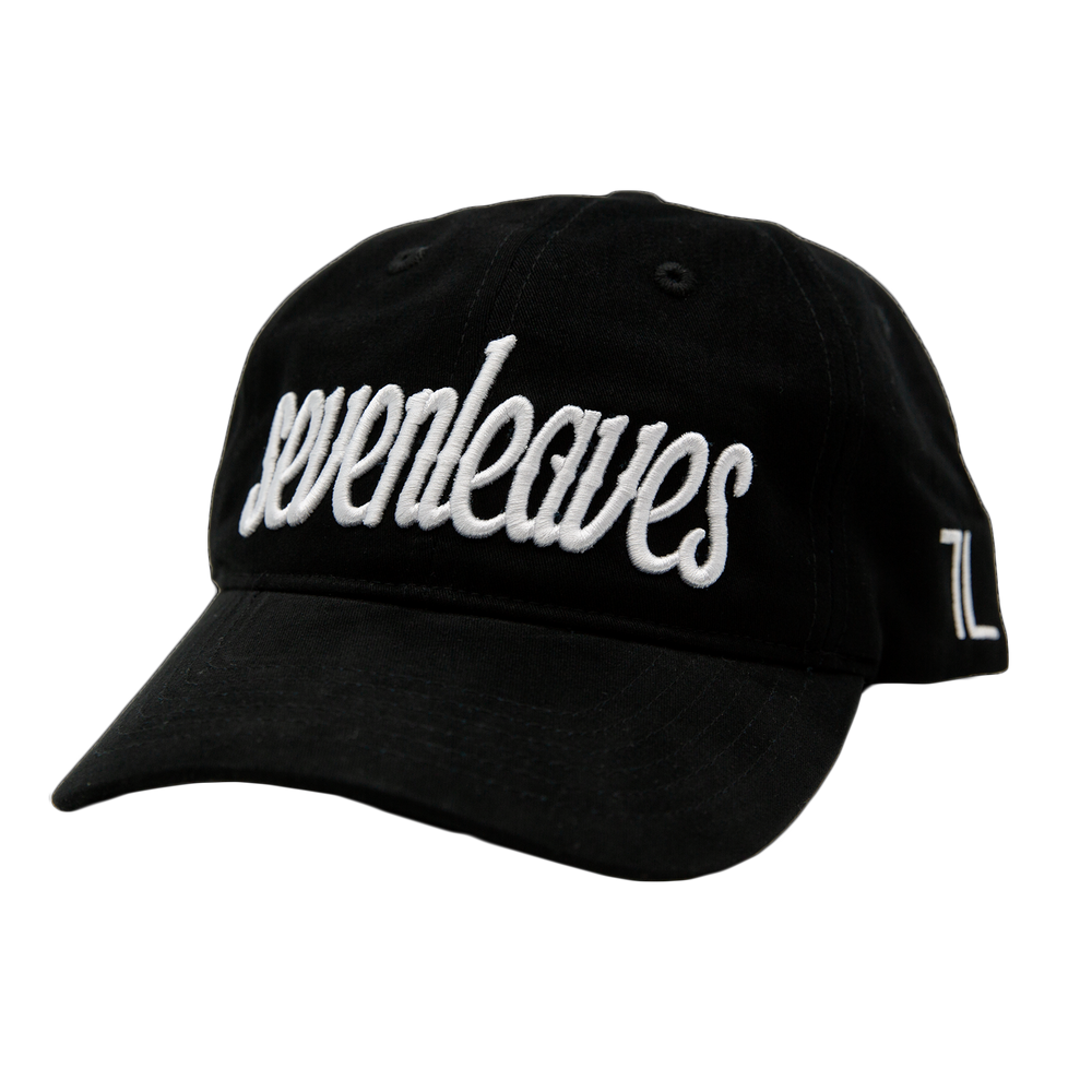 Black Seven Leaves Dad Hat