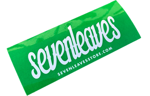 Green Seven Leaves Sticker