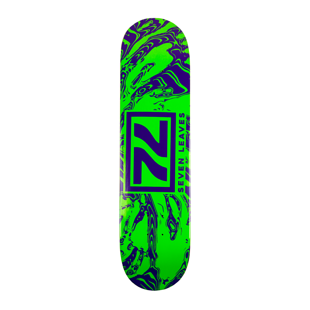 Seven Leaves Green Skate Deck