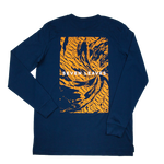 Navy Wave LS Tee
