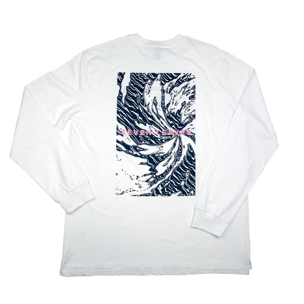 White Wave LS Tee