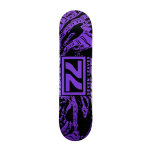 Seven Leaves Purple Skate Deck