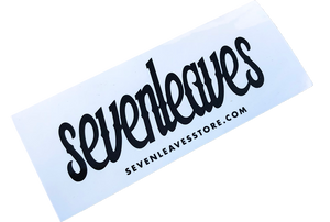 White Seven Leaves Sticker