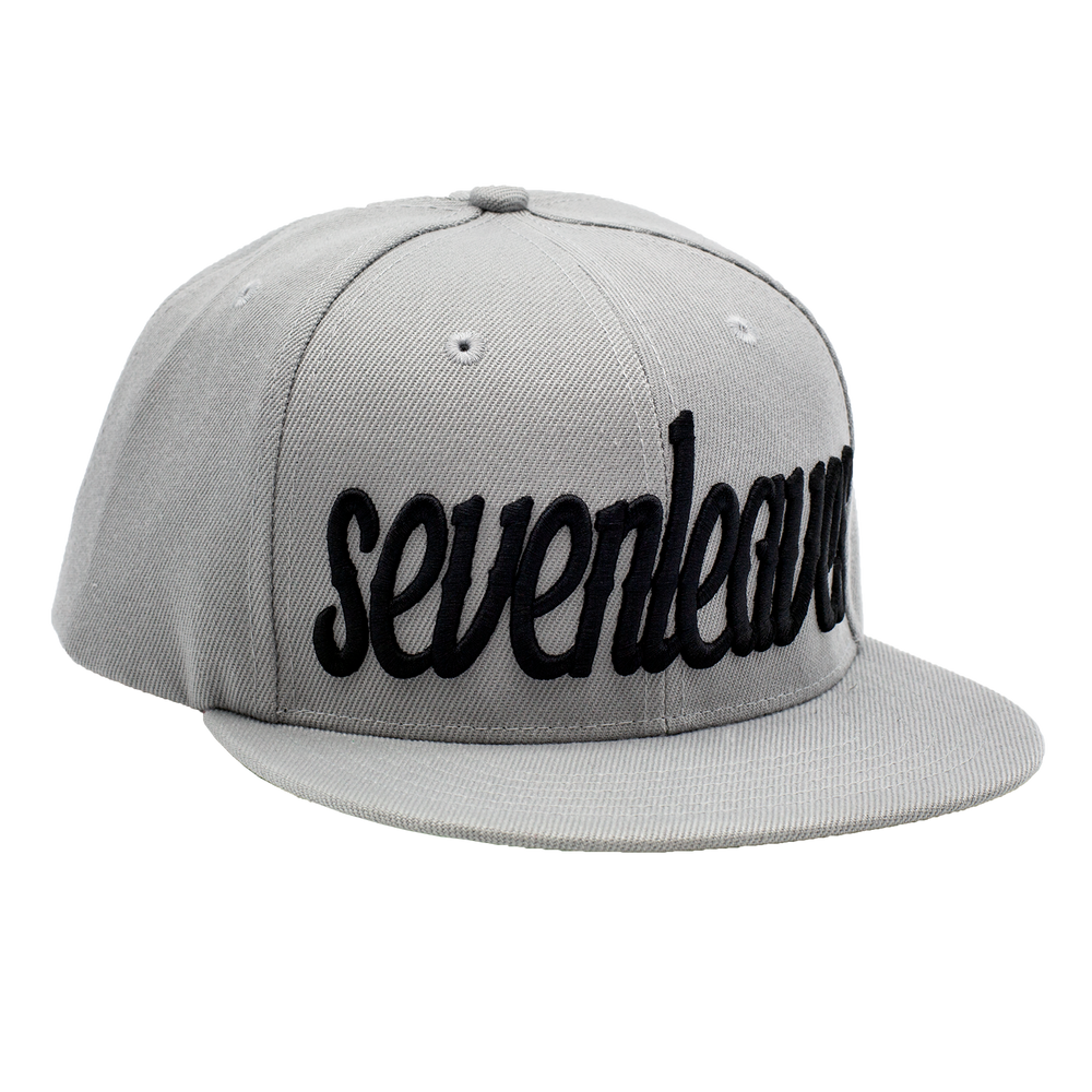 Gray Seven Leaves Snapback