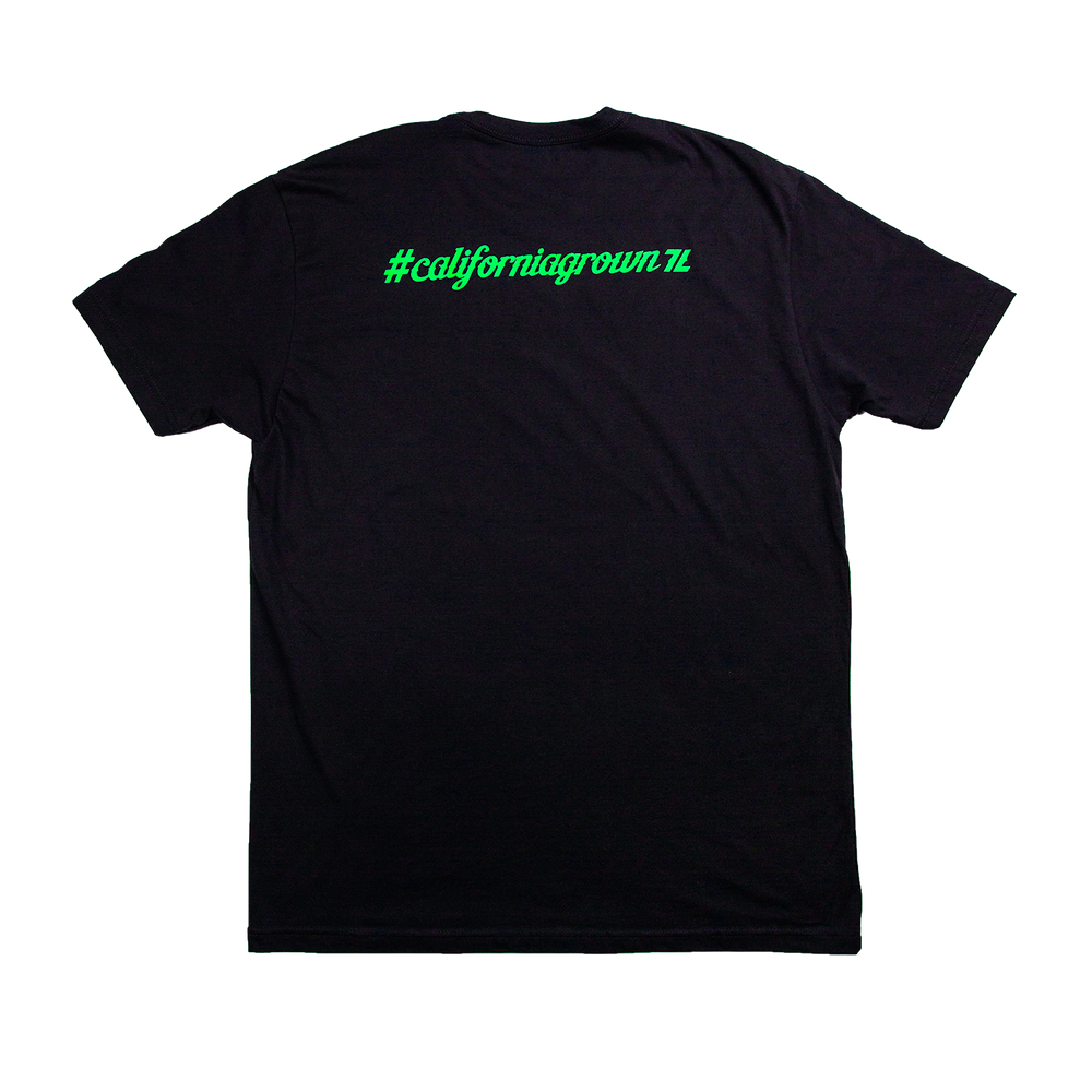 Black Seven Leaves Tee