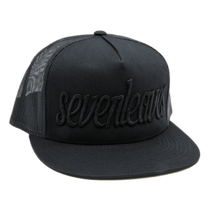 Black Seven Leaves Snapback