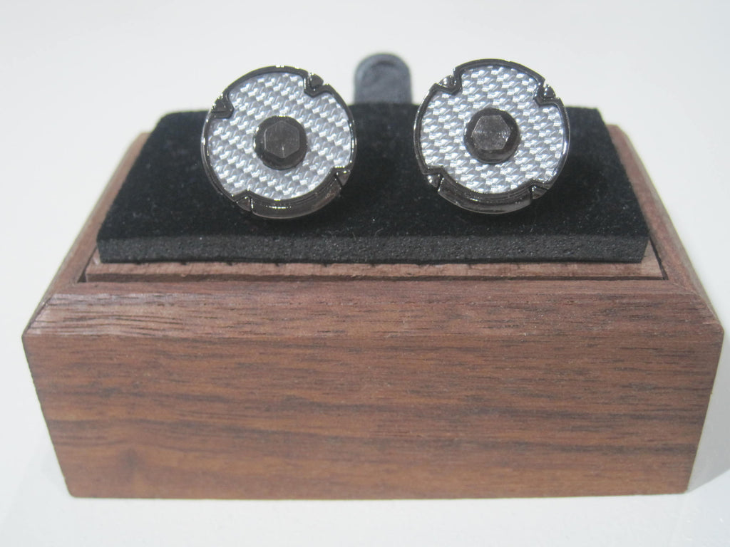 White and Silver Cufflink